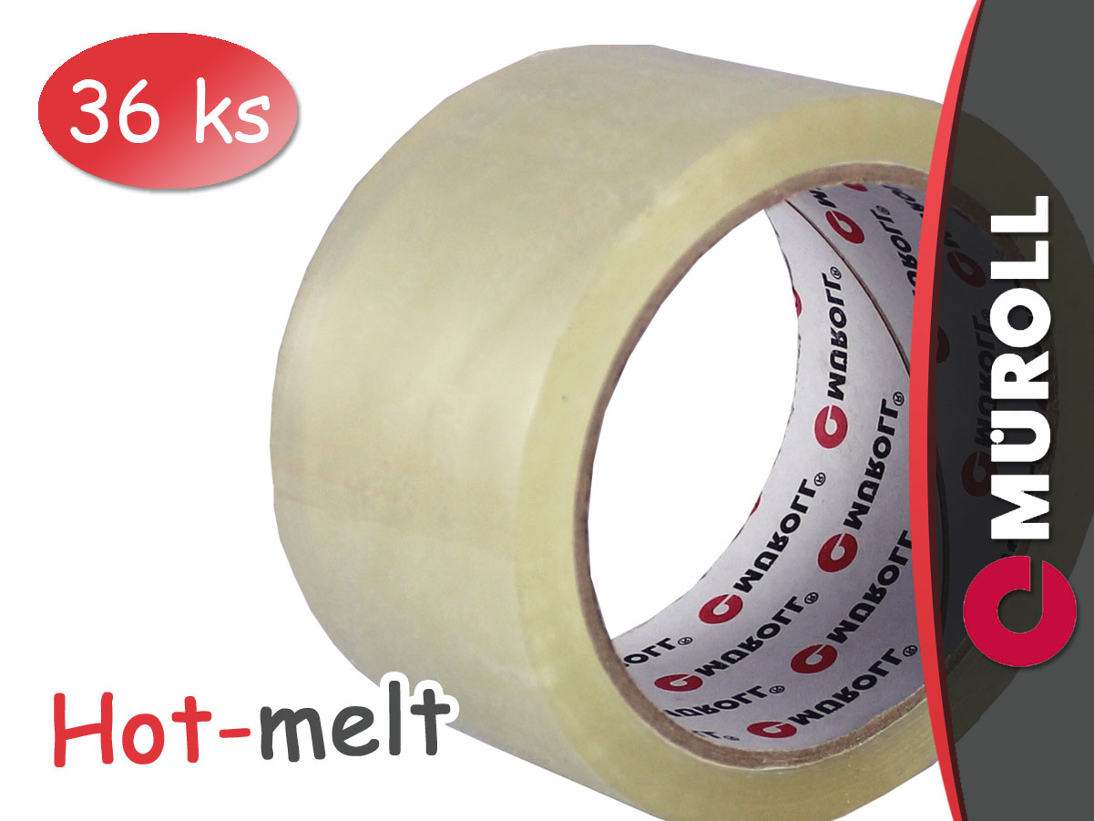 Lepící páska transparent MÜROLL 48 mm - Hotmelt (36 ks)